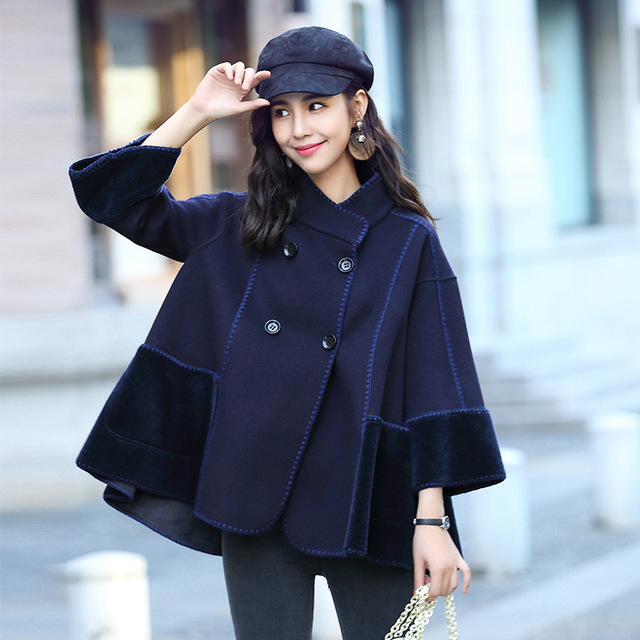 Aliexpress.com : Buy Cape coats Mouton Coat female women's jacket