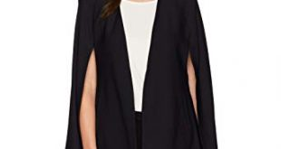 Amazon.com: Lyssé Women's Stretch Crepe Cape Jacket, Black, S: Clothing