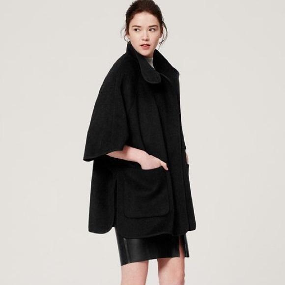 LOFT Jackets & Coats   Black Cape Jacket   Poshmark