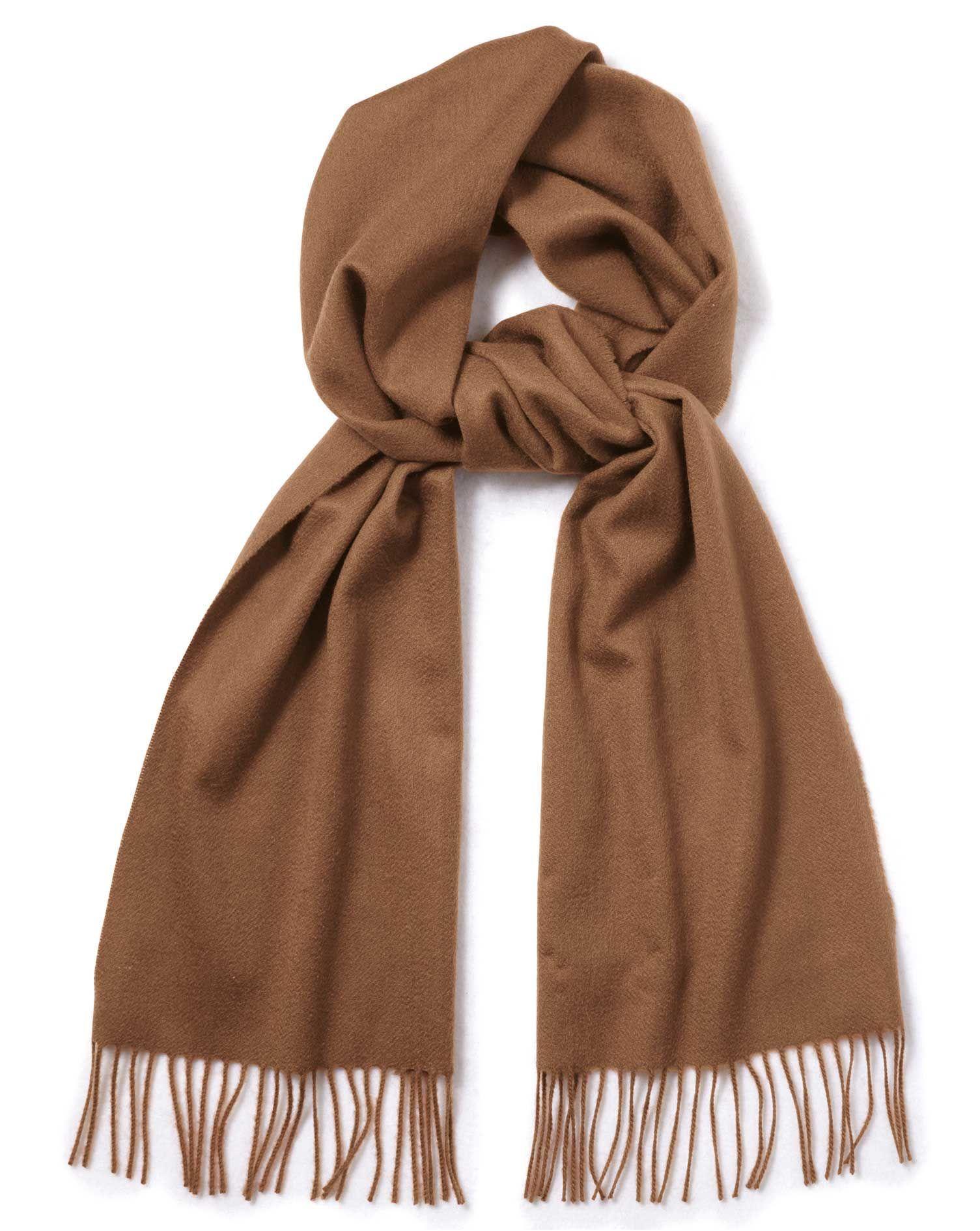 Camel cashmere scarf | Charles Tyrwhitt