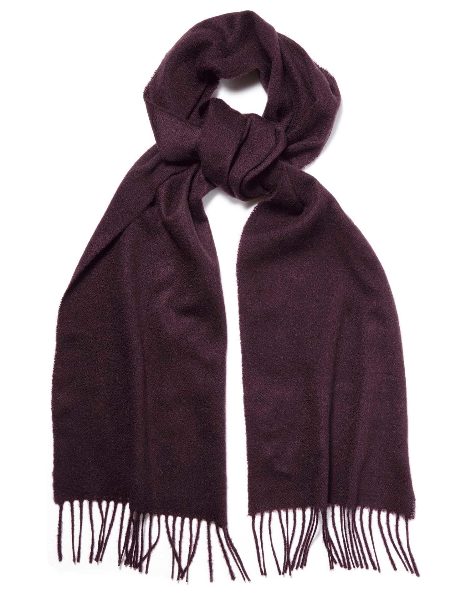 Dark purple cashmere scarf | Charles Tyrwhitt