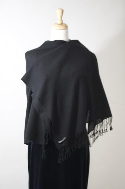 Black Glamore Cashmere Shawl-Scarf - Symrik