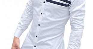 S.N. Men's Cotton Casual Long Sleeves Slim Fit Shirt - MegaShopy