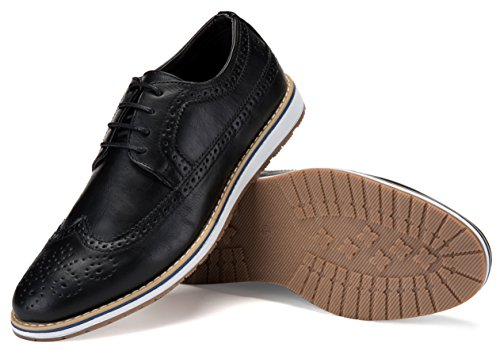 Mio Marino Mens Casual Shoes - Wingtip Oxford - Dress Shoes for Men