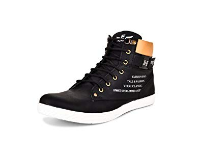 ESSENCE Men's Black Smart Casual Shoes: Buy Online at Low Prices in