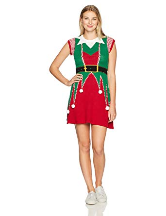 Get Christmas sweater dress   for antique appearance