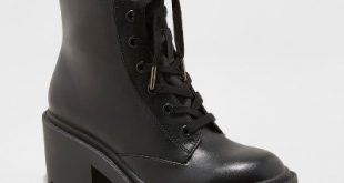 Women's Lupe Faux Leather Wide Width Combat Boots - Universal Thread