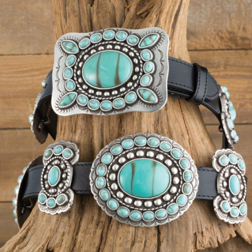 Angel Ranch Talimena Turquoise Concho Belt