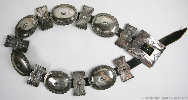 Navajo Guild Silver and Leather Concho Belt | Belts, Buckles