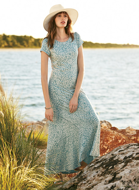 Persian Tile Dresses, Women's Long Cotton Dresses, Summer Knit