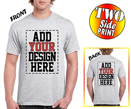 Amazon.com: Custom 2 Sided T-Shirts - Design Your OWN Shirt - Front