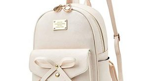 Amazon.com: Girls Bowknot Cute Leather Backpack Mini Backpack Purse