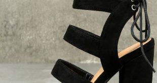 Cute High Heel Sandals - Vegan Suede Sandals