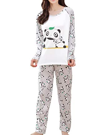 Amazon.com: MyFav Big Girls Cute Panda Pajama Set Casual Comfy