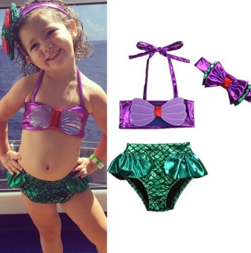 Baby Swimsuits Mermaid Kids Swimwear Cute Mermaid Swimwear Swimsuit
