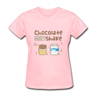 Rusty Doodle | Cute Chocolate Milkshake Womens T-Shirts - Womens T-Shirt