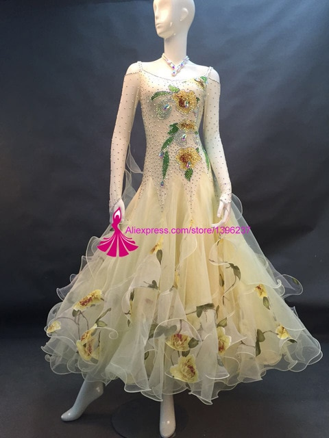 Standard Ballroom Dance Dresses Women 2018 New High Quality Flamenco