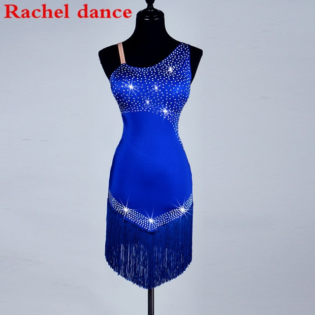 Shoulder Latin Dance Dress Fringe Women Ballroom Dancing Dresses