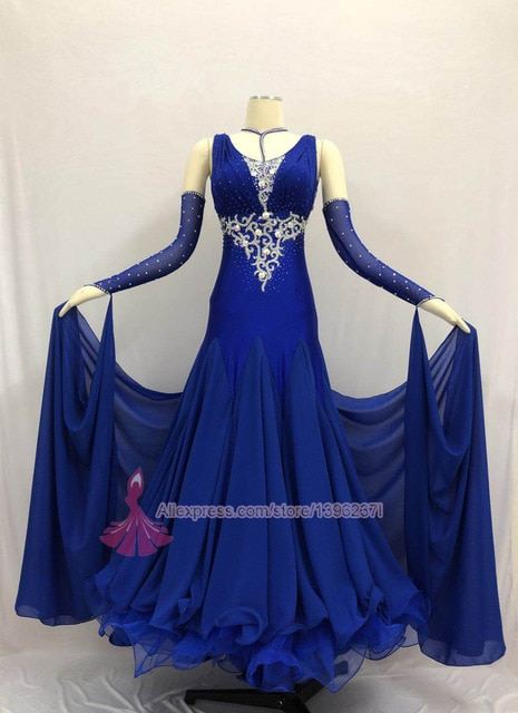 Ballroom Competition Dance Dress Women High Quality Spendex Flamenco