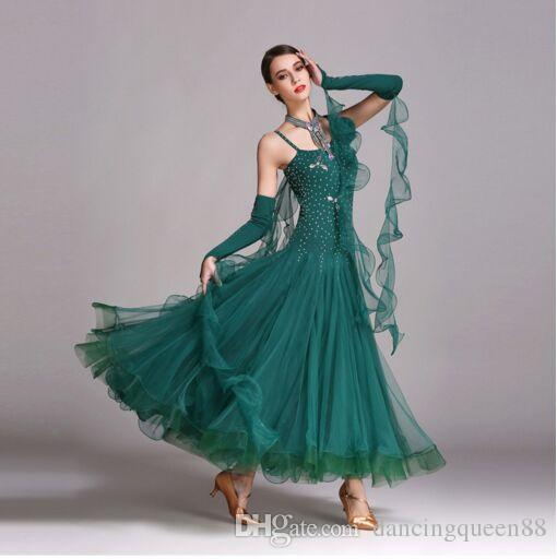 Orange Ballroom Dance Dress Fringe Latin Ballroom Dress Tango Waltz