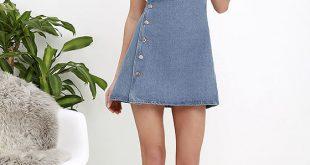 Denim Dress - Overalls - Overall Dress - $48.00