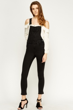Charcoal Denim Dungarees - Just £5