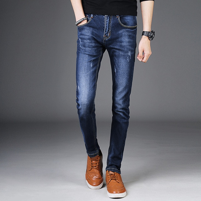 36 27 Denim Pants Men Fashion 2017 New Slim Fit Jeans Men Korean