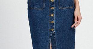 2019 Chic Women's High Waist Denim Pencil Skirt | Rosegal.com
