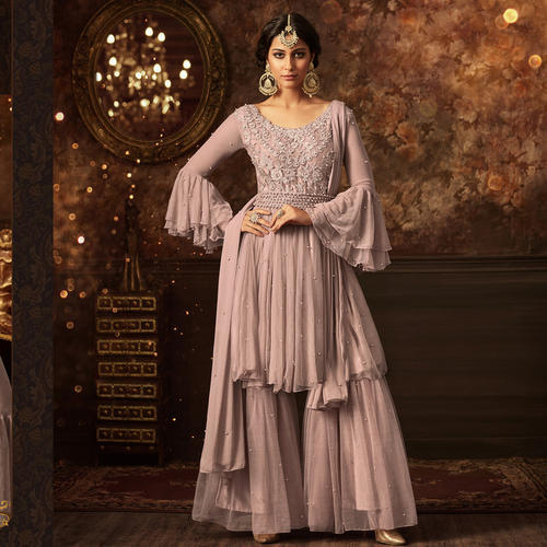 Georgette Embroidered Designer Dress Material, Rs 2750 /piece | ID