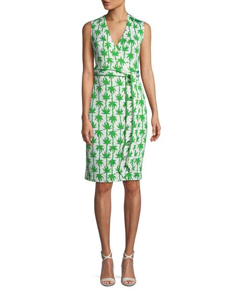 Diane von Furstenberg Yahzi Printed Sleeveless Wrap Dress