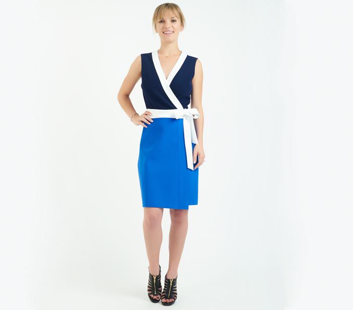 Diane von Furstenberg Gracie Colorblock Wrap Dress u2013 DesignerShare