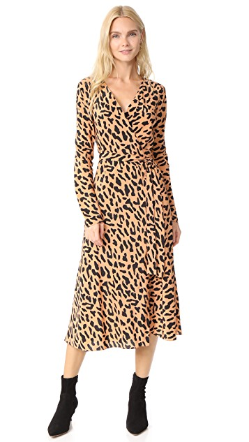 Diane von Furstenberg L / S Woven Wrap Dress | SHOPBOP