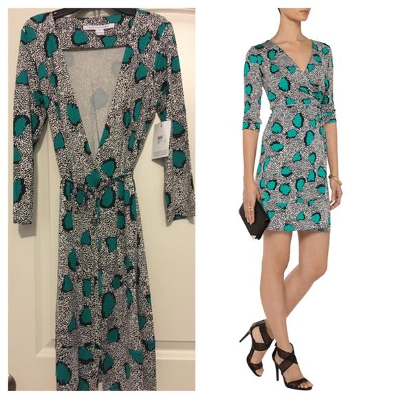 Diane von Furstenberg Dresses | Dvf Naoki Wrap Dress Size 8 | Poshmark