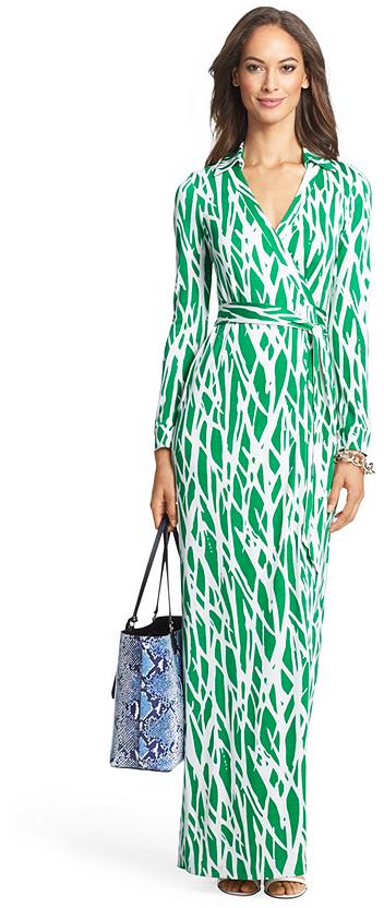 Diane von Furstenberg Heritage New Jeanne Two Long Maxi Silk Jersey