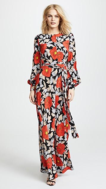 Diane von Furstenberg Waist Tie Maxi Dress | SHOPBOP