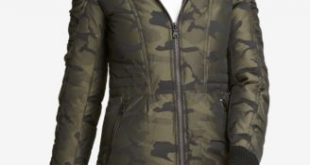 DKNY Faux-Fur-Trim Camo-Print Parka, Created for Macy's - Coats