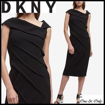 DKNY Tight Sleeveless Plain Medium Dresses by One&Only - BUYMA