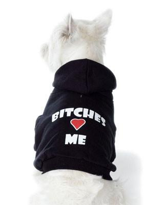 Bitches Love Me Pet Hoodie u2013 OfficialDogHouse
