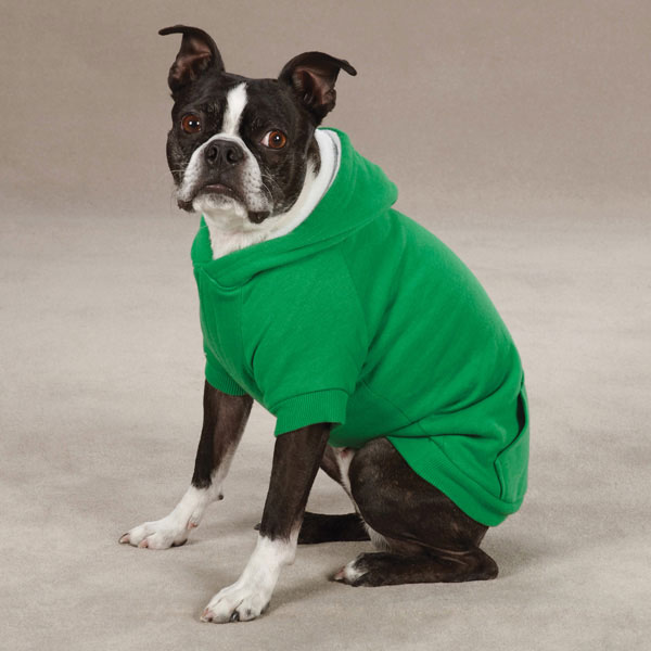 Fleece Lined Dog Hoodie by Zack & Zoey - Gree | BaxterBoo