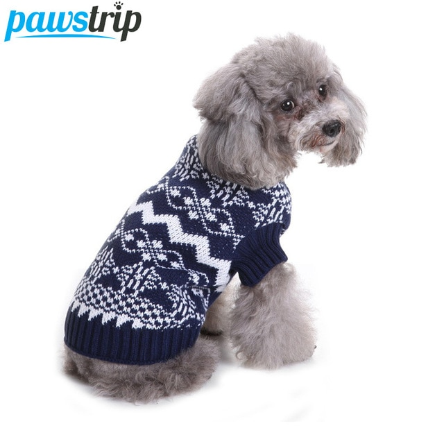 pawstrip 7 Patterns Soft Dog Jumpers Coat Warm Dog Sweater Christmas