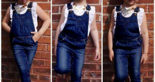 Children Set Girl Dress Summer White T Shirts + Denim Suspender