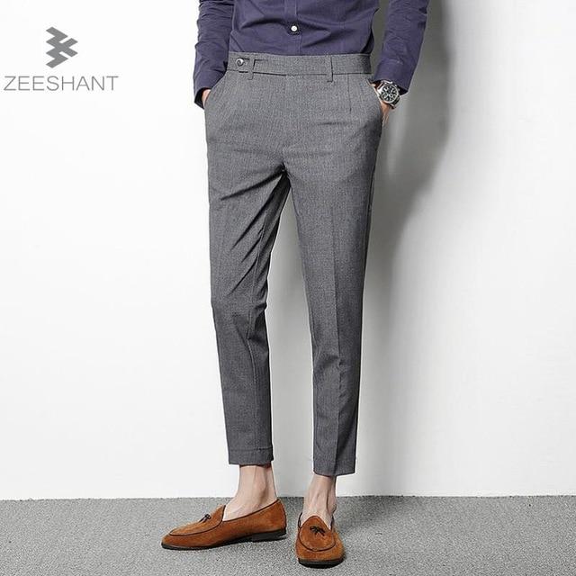 Man Business Pants Men's Suit Pants Thin Line Dress Pants Men Slim