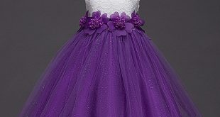 Girls Dress New Summer Flower Kids Party Dresses For Wedding