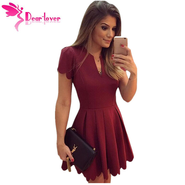 Dear Lover Princess Style A line Mini Dresses to Parties Burgundy