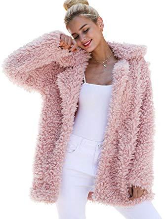 BerryGo Women's Shaggy Long Faux Fur Coat Jacket Outwear at Amazon