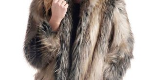 Pieced Fox Shawl Collar Faux Fur Jacket | Womens Faux Fur Jackets