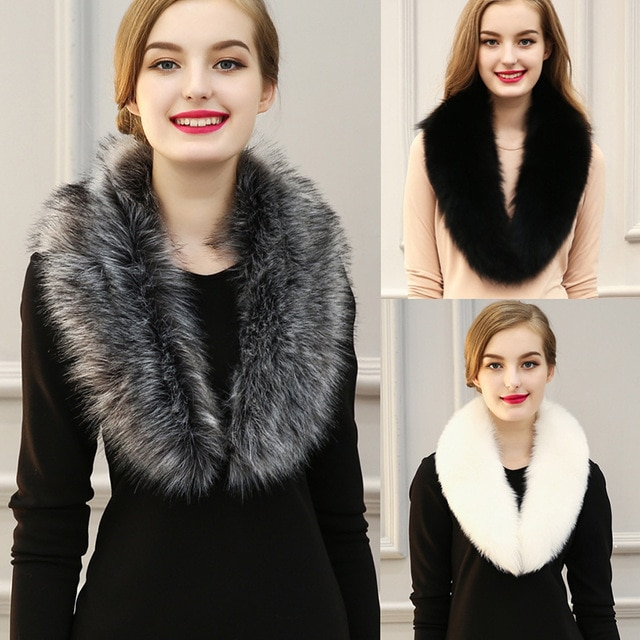 Scarves 2017 Faux Fur Scarf for women Free shipping imitation fur