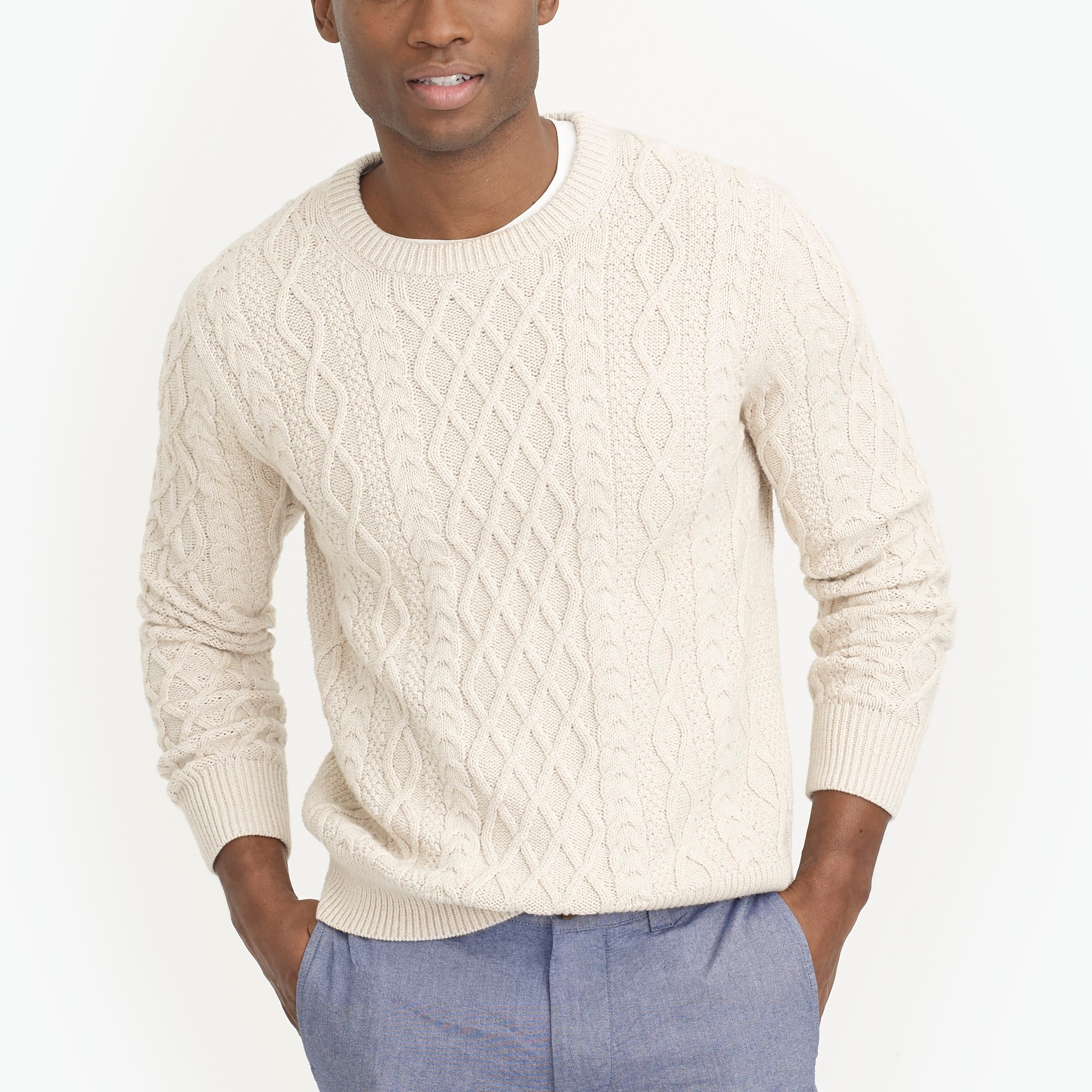Fisherman cable crewneck sweater : FactoryMen Pullovers | Factory