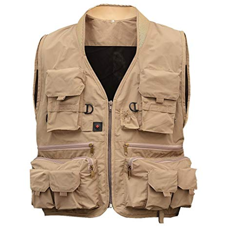 Amazon.com : Isafish Fly Fishing Vest Men's Multifunction Pockets