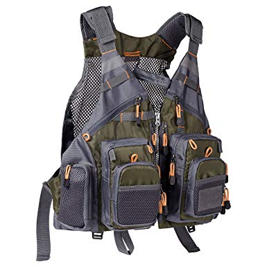 Amazon.com: Bassdash Strap Fishing Vest Adjustable for Men and Women